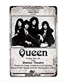 Plaque Metal Affiche Vintage Concert Queen at The Stanley Theatre
