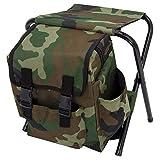 XIDISQI Chaise de Sac à Dos de Camping LéGer Camouflage, Tabouret de PêChe en Plein Air Pliable Loin, TrèS Approprié pour Le Camping, Pique-Nique, Sortie, BBQ