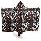 XCNGG Couverture à Capuche Couverture de climatisation à Capuche Hooded Blanket Throw Adam Driver 2019 Collage Super Soft Sherpa Fleece Blanket Hood Poncho Cloak Cape
