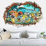 Stickers Muraux Accessoires De Décoration De Chambre D'Enfant Pokemon Go 3D Image Stéréoscopique De Dessin Animé