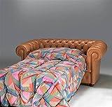 Trama Toscana Canapé lit 2 places assise lit 1 place et demi Chesterfield simili cuir dimensions canapé 190 x 90 H 72 cm sommier 132 x 185 cm matelas 115 x 185 cm 7 cm