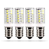 HEITECH Ampoule led 3W E14 pour réfrigérateur - 4x ampoule pour machine à coudre, hotte aspirante, vitrine, lampe pierre de sel, réfrigérateur - capsule T16, 240 lumens, 6000K et 15.000h