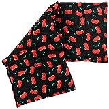 Coussin aux graines de colza 20x50cm compartimenté en 3 - Cherry-black - Coussin thermique aux graines utilisable chaud ou froid - Cherry-black