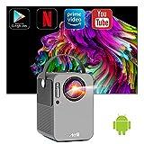 Smart Videorojecteur Android - Artlii Play, 2Go RAM/16Go ROM, WiFi Bluetooth, Mini projecteur Portable, Rretroprojecteur Full HD, Dolby Son stéréo Correction X/Y ± 45°, Netflix Amazon Video