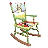Chaise à bascule siège fauteuil bois décor chambre enfant bébé mixte W-8266A