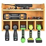 Organisateur d'outils électriques, Station de charge pour outils électriques Sunix Support mural pour perceuse Outils de montage mural Stockage de garage (multiprise non incluse)