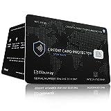 Carte Premium Anti-RFID/NFC Protection Carte Bancaire sans Contact | 1 Carte de Blocage RFID protège du piratage : CB, Carte de Crédit, Carte Bleue dans Un étui, Pochette, Porte-Carte ou Portefeuille