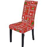 goneryisour Housse de protection extensible amovible pour chaise de salle à manger de Noël