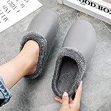 B/H Pantoufles de Maison Doux Confortable,Cute Plus Velvet Toe Cap Cotton Shoes, Winter Indoor Waterproof Slippers-c_44,Maison Chaussons Femmes Pantoufles