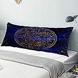 CIKYOWAY Taie d'oreiller Longue Constellation de l'hémisphère sud Antique Coussin Taie de Traversin avec Fermeture Glissière Invisible Lavable Canapé de Salon decoratif 50x137cm