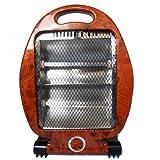 FISHTEC ® Radiateur Quartz Chauffage Infrarouge Halogène 400 800W - Aspect Loupe d'Ormes