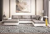 Tendencio Canapé d'angle en u Convertible Liberta Taille XXL de 6 à 7 Places avec lit