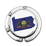 Le Drapeau et la Carte de l'État Keystone Chevaux Aigle américain Armoiries personnalisées diverses Conception modèle épaule