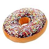 Nunubee - Coussin en forme de Doughnut rond rembourré, Motif 4, 40*40cm