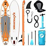 Exprotrek Stand Up Paddling Board, SUP Board Gonflable, Stand Up Paddle Board Set, avec Pagaie en Aluminium, Siège de Kayak et Accessoires Complets (100 kg MAX)