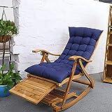 ZYD Chaise à Bascule Fauteuil Lounging Rocker Deck Relaxant inclinable Chaise Longue siège en Bambou intérieur extérieur pour Adultes, Enfants, Personnes âgées