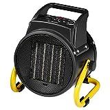 Bomann HL 1120 CB - Chauffage d'appoint en Céramique - Thermostat réglable - Fonction Ventilateur - 2 Réglages de chaleur - 2000 Watts Noir/Jaune