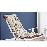 Coussin de Chaise De Jardin, Coussin De Chaise Berçante, Coussin Tatami Transat de Terrasse Relax Épais Pad Outdoor Balcon intérieur (Taille: 125X48.8CM, sans Chaise)