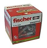 fischer - Cheville bi-matière et multi-matériaux DUOPOWER 8x65/Boîte de 50 Gris/rouge