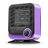 Chauffage d'appoint – Petit ménage à économie d'énergie, table de salle de bain, chauffage PTC violet (17,2 cm x 9 cm x 22 cm)