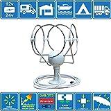 Unispectra KORONA TS Lite - ANTENNE NUMÉRIQUE OMNIDIRECTIONNELLE TV/FM TNT HD avec AMPLIFICATEUR intégré pour Motorhome/Bateau/CARAVANNE/Campeur/Camion/Compatible avec DVB-T et DVB-T2