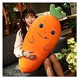 Coussin de peluche de carotte géante orange animal de radis animal étreignement oreiller jouet jouet peluche douce peluche peluche confortable poupée noire jouets cadeau pour garçons et filles enfants