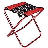 TRIWONDER Mini Tabouret Pliant Tabouret de Pêche Tabouret Camping Portable Tabouret Pliable Chaise Léger pour Randonnée Jardin BBQ Plage Voayge (Rouge)