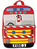 Harry Bear Enfants Sac à Dos Camion de Pompier Rouge