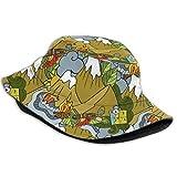asdew987 Boussole pour bois de chauffage, tente, télescope, camping, unisexe, impression bob, chapeau de pêcheur, chapeau d'été réversible, pliable, unisexe