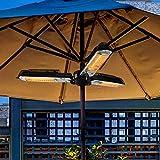 ART TO REAL Radiateur de Parasol électrique pour terrasse, radiateur électrique Infrarouge extérieur Pliant avec 3 Panneaux Chauffants pour Pergola ou Gazabo