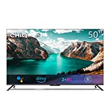 CHiQ U50G7PF Hands Free Voice Control Frameless Smart Android TV,4K UHD, HDR 10, Dolby Vision, Dolby Audio, Works with Alexa,Google Assistant, 64-bit Quad Core,HDMI2.0 [Energy Class G],Released 2021
