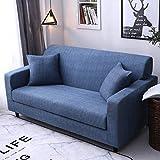 Housse de Canapé 1 2 3 4 Places Extensible Bleu Marin Housse Fauteuil Couvre Canapé d'angle Protection Banquette lit clic clac Protege Canape Chat Housse Canapé Cuir 190-230 cm