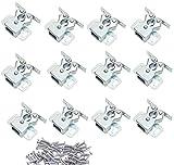 NewZC Lot de 12 Loqueteau d'Armoire à Double Rouleaux Fermetures Loquets pour Portes Laiton Poli Fermoire pour Portes Ferme-Portes pour Portes Placards Tiroirs Armoire - Zingué
