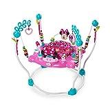 Bright Starts, Disney Baby Aire d'Eveil à Rebonds Minnie PeekABoo avec plus de 12 jouets, musique et lumières, siège rotatif à 360 degrés!