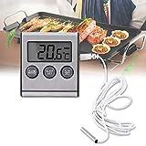 Thermomètre de Réfrigérateur Numérique, LCD Moniteur pour Thermomètre Numérique, Thermomètre Numérique étanche Congélateur Réfrigérateur avec Alarme de Température Haute/Basse