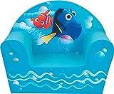 Fun House 712489 Disney Nemo ET Dory Fauteuil Club Enfant Origine France Garantie, Polyester, Bleu, 52x33x42 cm