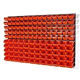 Lot de 75bacs de rangement de taille XS et 60bacs de rangement de taille S et fixation murale