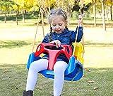 Huike Balançoire 3 en 1 pour bébé - Réglable - Avec dossier et ceinture de sécurité - Pour bébé et enfant - Avec corde réglable en hauteur