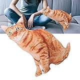 Coussin Animal Chat, Élastique Doux en Forme De Chat Coussin Confortable pour La Lecture Au Lit pour Le Dos Coussin pour Canapé Coussin pour Regarder La Télévision(Cat Pillow)