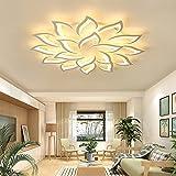 Plafonnier LED moderne dimmable avec télécommande, lampe de salon lampe de chambre lampe de chambre d'enfant plafonnier lampe de salle à manger lustre, plafonnier LED (18 lampes - 120cm - 108W)