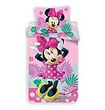 Disney Minnie Parure de Lit 2 pièces - Housse de Couette 140x200 + Taie d'oreiller 70x90