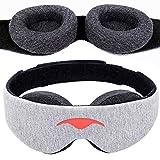 Manta Sleep Mask - Masque pour les Yeux 100% Blackout - Aucune Pression Oculaire - Coupe Ajustable pour les Yeux - Masque de Sommeil pour les Dormeurs Légers et les Voyageurs