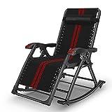 Axdwfd Chaise longue Chaise inclinable, chaise pliante multifonctionnelle de balcon de vieux monsieur de lit de sieste de lit se pliant de siesta lit peut être secouée la chaise inclinable appropriée