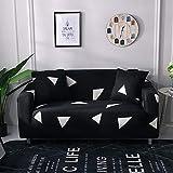 Modèle Simple Salon Housse de canapé Floral élastique Anti-poussière Lavable Housse de canapé canapé-lit A14 4 Places