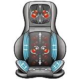 Comfier Siège Massant Shiatsu avec Compression et Roulement - Masseur de Dos avec Chaleur, Chaise Massage de Pétrissage pour le dos, le cou et les épaules, soulagement de la douleur