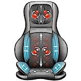 Comfier Siège Massant Shiatsu avec Compression d'Air et Roulement - Masseur de Dos avec Chaleur, Chaise Massage de Pétrissage pour le dos, le cou et les épaules, soulagement de la douleur