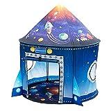 Tente Enfant Tente de Jeu Fusée Tente pour Enfants, Ouinne Tente de Jeu de Château Portable Tente Pop Up Maison de Jeu Intérieure et Extérieure avec Sac de Transport