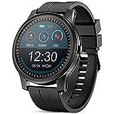 GOKOO Montre Connectée Homme Smartwatch Bluetooth Sport Etanche Bracelet Connecté Tensiomètre Cardiofréquencemètre Podomètre Fitness Tracker d'Activité pour iPhone Android iOS Cadeau