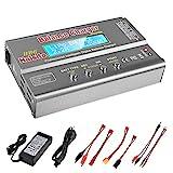 Haisito 80W 6A Chargeur de Balance Déchargeur pour Batterie LiPo / Li-ION / Life (1-6S), NiMH / NiCd (1-15S), Chargeur de Balance Rc Hobby LED avec Adaptateur Secteur