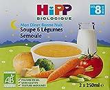 Hipp Biologique Soupes 6 Légumes Semoule dès 8 mois - 10 Briques de 250 ml